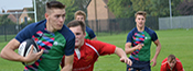 Prc Rugby team in action