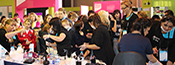 hair and beauty students at the Skills Show