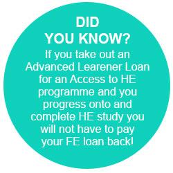 Advanced learner loan info