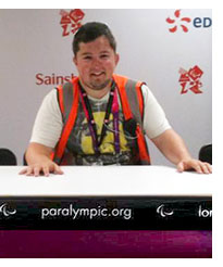 Former student Christopher Smith at the London 2012 olympics