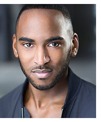 Head shot of former student and actor Tyler Fayose