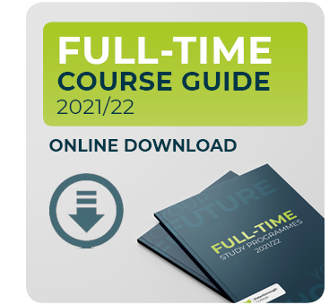 Download our full-time course guide for courses starting September 2021