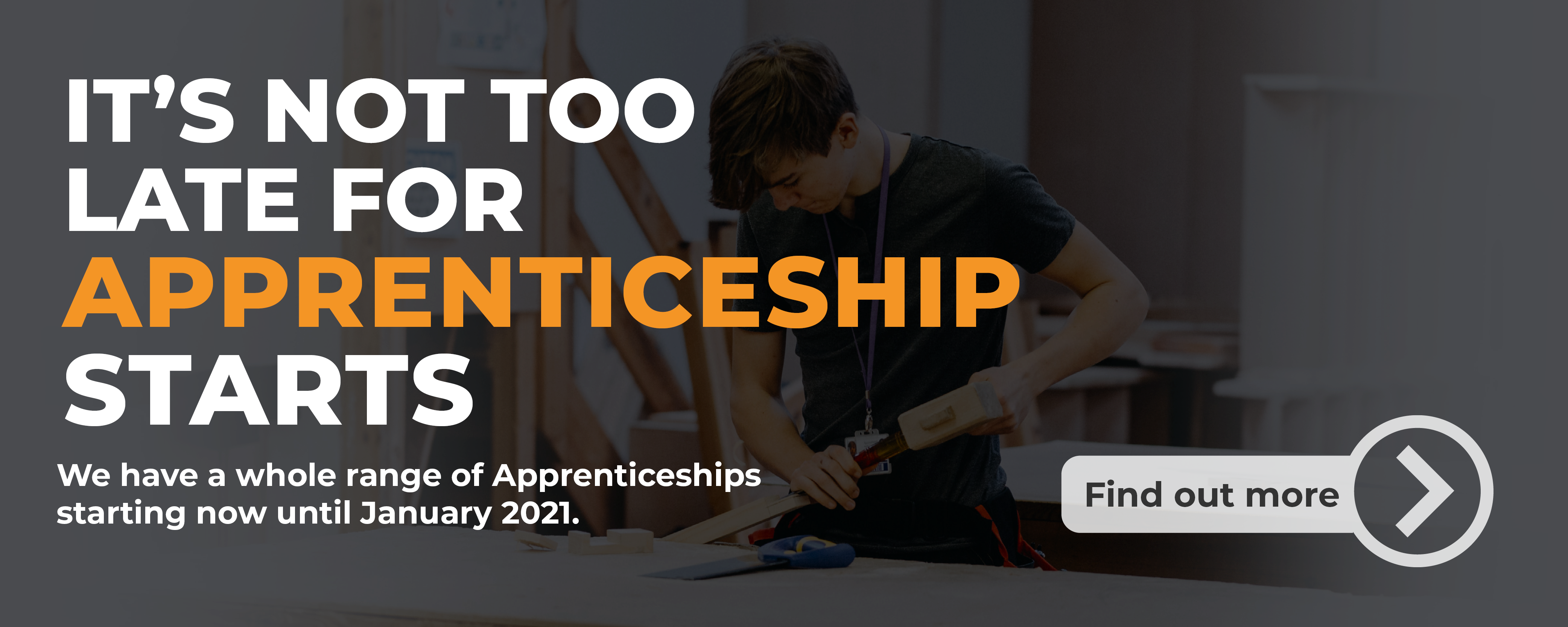 It's not too late for apprenticeship starts