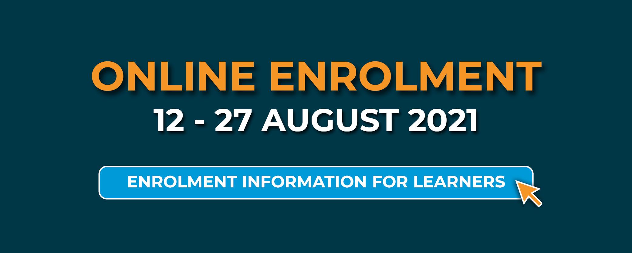 Enrolment information for learners